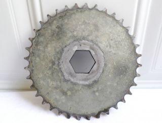 Metal Industrial Gear Gray Silver Sprocket Cog Machine Age Steampunk Salvaged photo