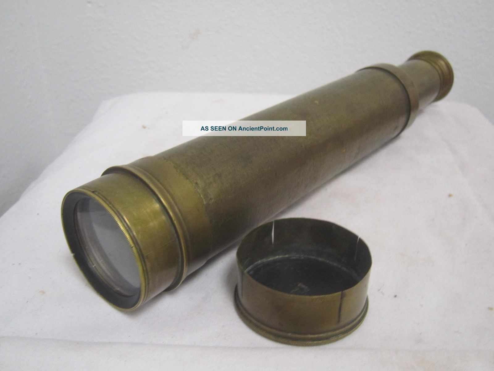 Antique 1865 Civil War Era Spyglass Telescope Brass 10