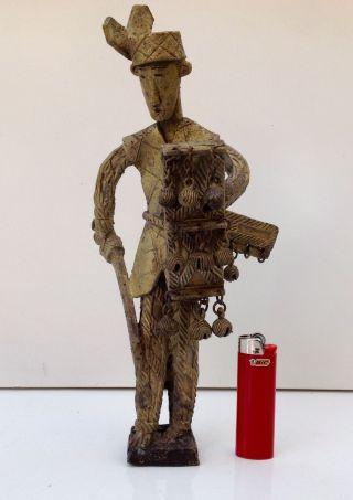 African Ashanti Bronze Warrior Large Sculpture photo