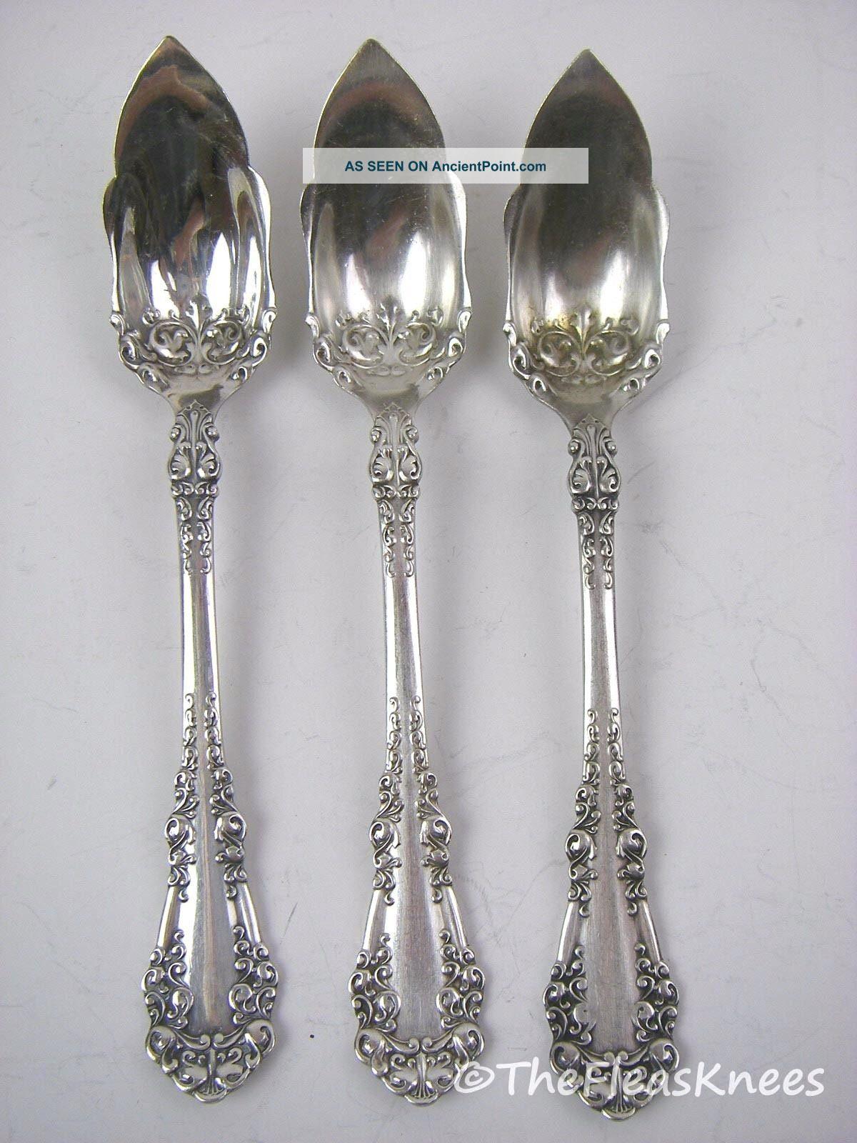 1847 Rogers Bros A1 Silverplate Berkshire 3 Fruit Spoons Flatware & Silverware photo