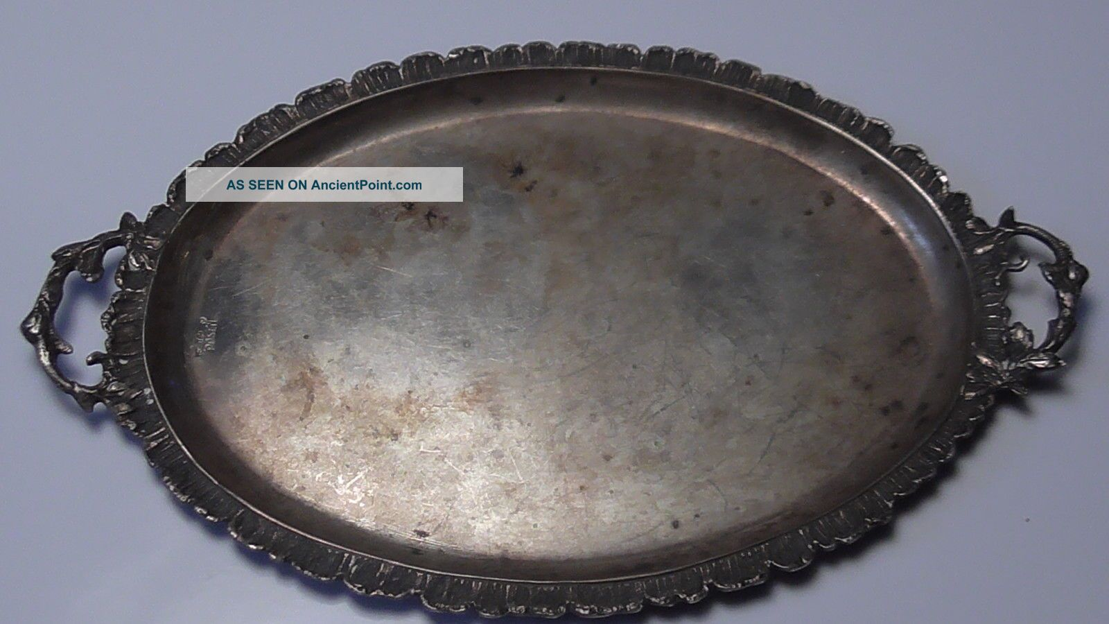 Antique Posen German 800 Silver Tray Sugar,  Creamer Tongs Aesthetic Dragonfly Germany photo