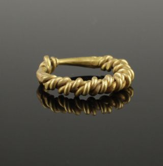 Viking Twisted Gold Ring - Circa 10th Century photo