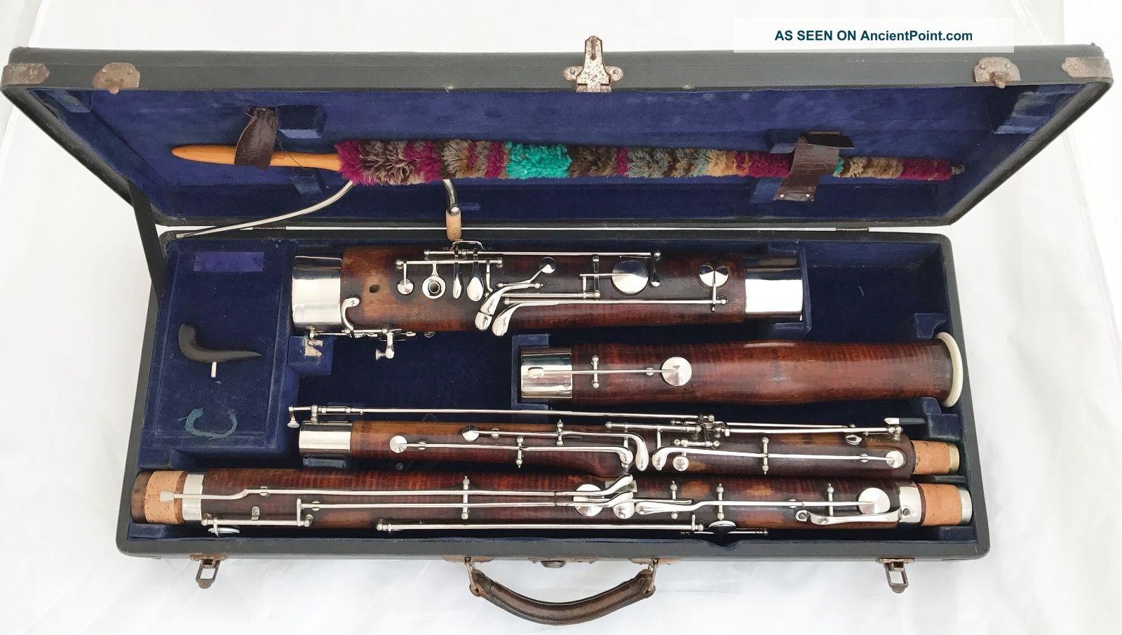 Heckel Biebrich No.  5264 German Bassoon,  Orig.  Case,  C2 Bocal - Complete Restored Wind photo