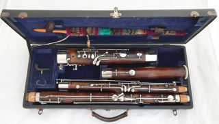 Heckel Biebrich No.  5264 German Bassoon,  Orig.  Case,  C2 Bocal - Complete Restored photo