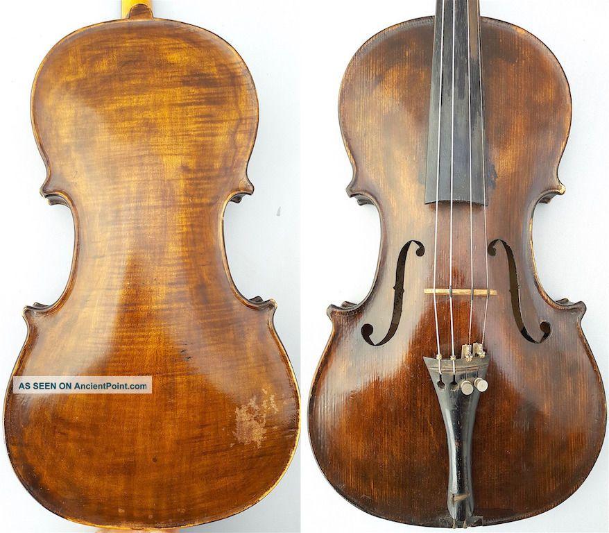 Fine Antique 4/4 1935 Franz Reicher German Violin Old Wood 小提琴 СКРИПКА Geige String photo