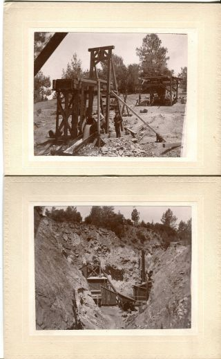 12 Antique Photos,  Mining Camp & Town From The 1800 ' S,  Pennsylvania? photo