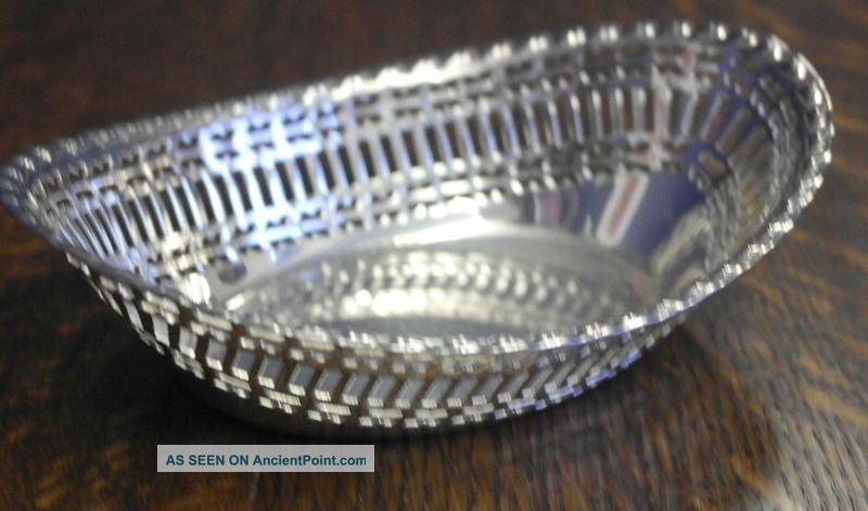 Vintage Silver Plate Bon Bon Dish Bowl Bowls photo