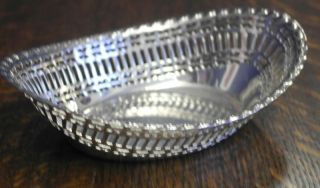 Vintage Silver Plate Bon Bon Dish Bowl photo