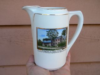 Inventor Of Sewing Machine Souvenir China Creamer Elias Howe - Spencer Mass. photo