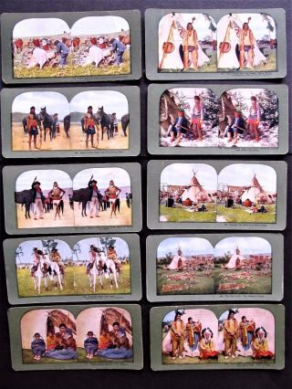 10 Ingersoll 1899 Antique Stereoviews Sioux Indians photo