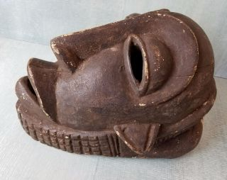 Antique Chokwe Tribe Mask With Grid Pattern photo
