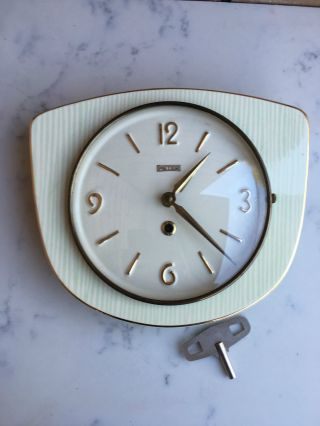 Vintage Peter 8 Days German Butcher Wall Clock photo