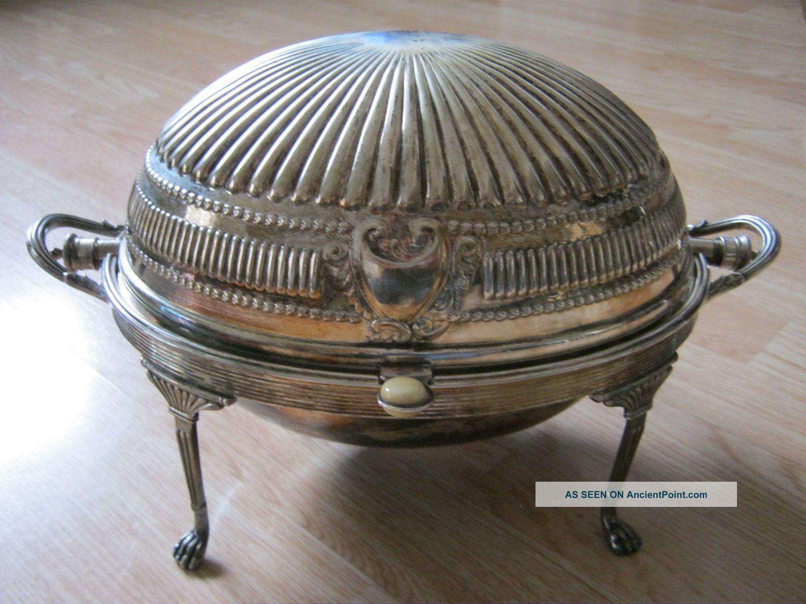 Antique Silver Plate Dome Role Top Victorian Chafing Old 14x8x8 Inche Art Deco Other Antique Silverplate photo