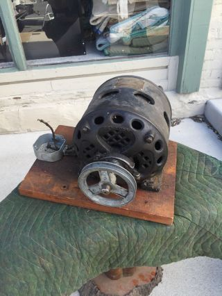 Old Antique Vintage 1915 Century Electric 1/2 Hp Horse Power Single Phase Motor photo