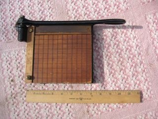 Antique Eastman Kodak No 1 Trimming Board Photo Paper Cutter Wood & Iron photo