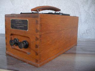 Antique James G.  Biddle Ohm - Meter Vintage Test Meter Steampunk Wood Box photo