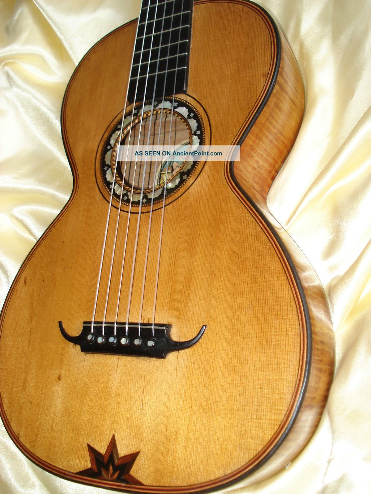 Romantic Guitar From Edmund Paulus Ca.  1920 String photo
