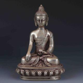 Chinese Tibetan Silver Handwork Buddha Statues G456 photo