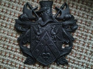 Coat Of Arms Vintage Stamped Japan Heavy Metal 18 X 17 photo