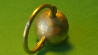 Rare Roman Solid Gold Ring 7.  20 Grams photo