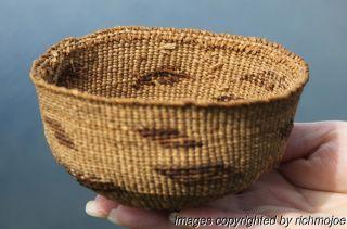 Very Fine Old Northern California Klamath Hupa Childs Indian Basket Hat C1900 photo