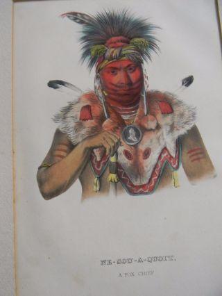 Antique Native American Indian Color Lithograph - Ne - Sou - A - Quoit A Fox Chief photo