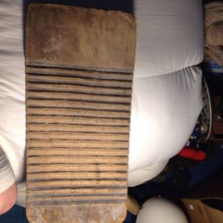 Antique Extremely Rare Early 1800 ' S Primitive Wash Scrub Board photo