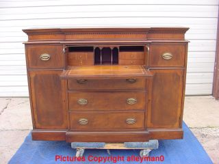 Antique Vintage Fancher Furniture Co.  Butlers Desk Sideboard Server Chest photo