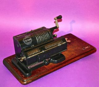 1928 Antique Russian Mechanical Calculator Arithmometer Feliks Scetmas photo
