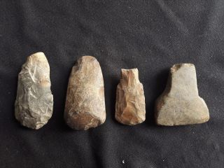 Special Price 4 X Thailand Polish Adze Neolithic Hand Ax Celt [tm51] photo