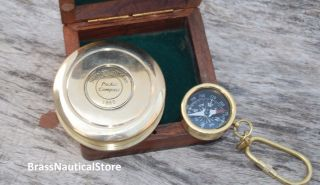 Poem Compass Vintage Brass Compass Antique Style Engraved Compass Case Marine photo