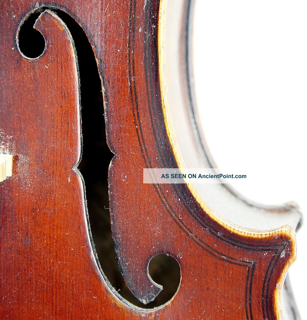Very Good Antique Violin By Eduard Reichart 1913,  Maggini Model, String photo