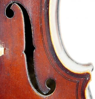 Very Good Antique Violin By Eduard Reichart 1913,  Maggini Model, photo