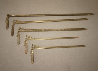 5 Vintage E.  S.  I.  Co Bronze Brass Bronchoscopes Lamps Surgical Tools Instruments photo