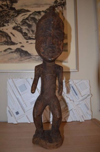 Cameroon Africa Antique Wood Statue - Mfumte Messenger photo