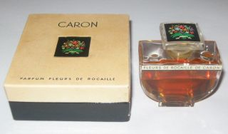 Vintage Caron Fleurs De Rocaille Baccarat Style Perfume Bottle/box 1 Oz 1/2 Full photo