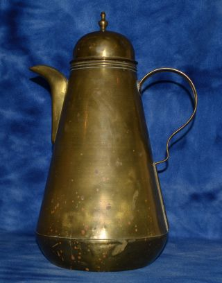 Vintage Antique Brass Coffee Pot Very Large 16