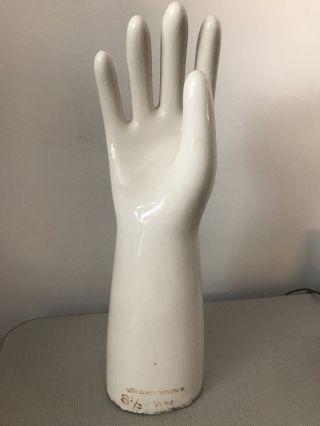 Vintage Porcelain Glove Mold Colonial Insulator Co.  Size 8 1/2 Mannequin photo