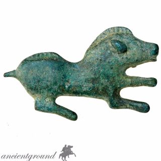 Very Rare Roman Bronze Boar Fibula Brooch Circa 300 Ad photo