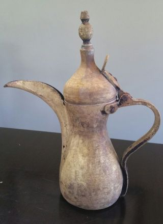 Extremely Rare Bedouin Brass Dallah/coffee Pot Saudi Arabia photo