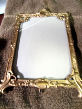 Antique English Metal Gold Painted Frame C.  1899 photo