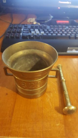 1825 Mortar & Pestle Brass photo