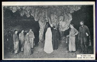 Postcard Coal Mining Mine The Bridal Alter Mammouth Cave Kentucky 1923 photo