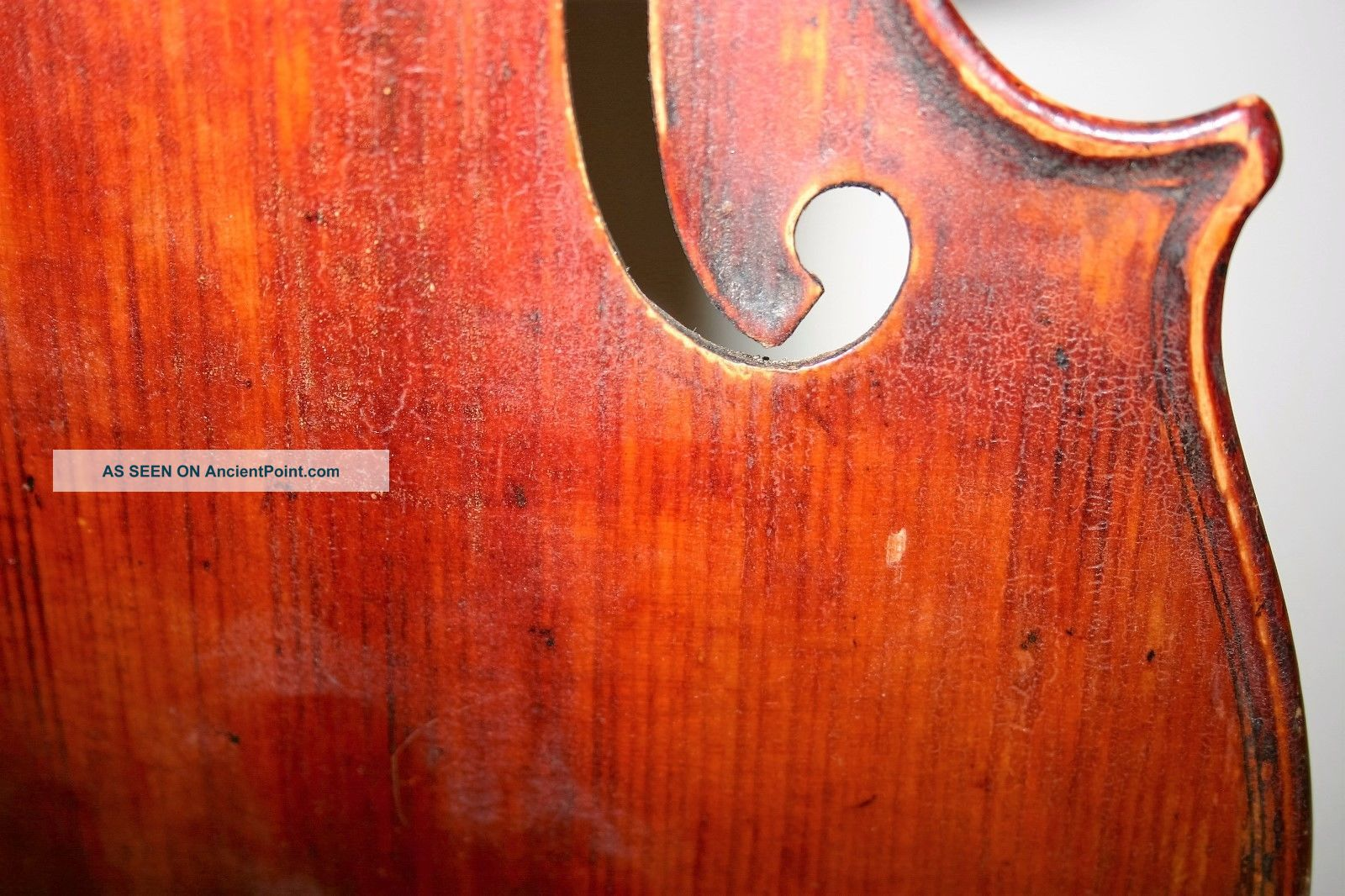 Old Vintage 4/4 Violin Repair Cond J.  B.  Herclik No Cracks Easy Project String photo