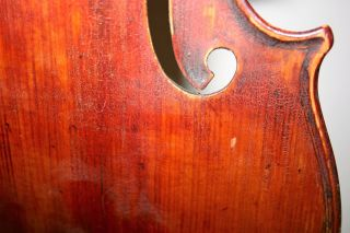 Old Vintage 4/4 Violin Repair Cond J.  B.  Herclik No Cracks Easy Project photo