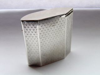 Rare Silver Vesta Case Padgett & Braham Ltd London 1926 photo