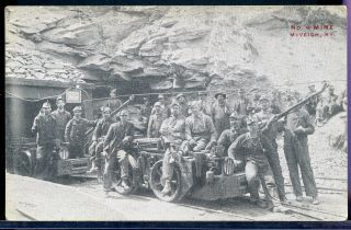 Postcard Coal Mining Mine Number 6 W Miners Mcveigh Kentucky 1908 photo