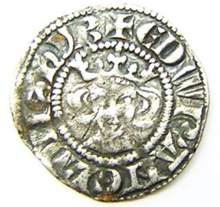 Medieval Silver Penny Of King Edward I Minted In London 1279 - 1307 A.  D. photo