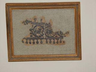 Ancient Egyptian Coptic Textile Pictorial Fragment photo