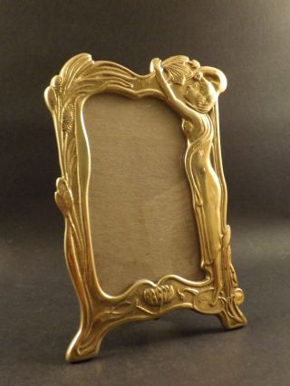 Antique Art Nouveau Brass Photograph Frame photo